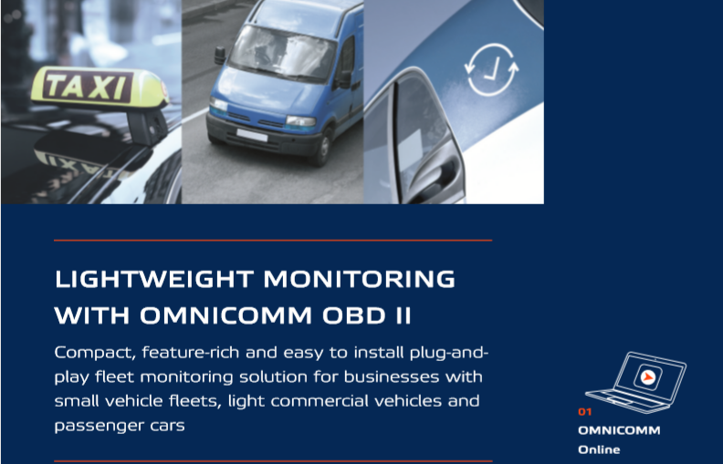 Lightweight monitoring with OMNICOMM OBD II