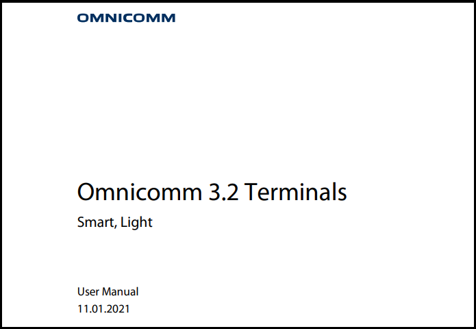 OMNICOMM Series 3.2 Terminals User Manual