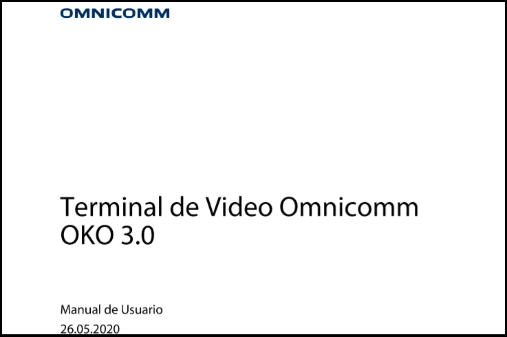OMNICOMM OKO 3.0 Terminal de Video Manual de Usuario