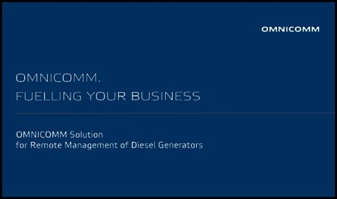 OMNICOMM Solution for Remote Management of Diesel Generators Presentation