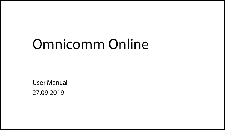 OMNICOMM Online User Manual