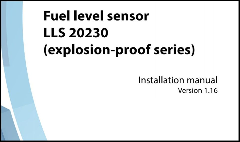 OMNICOMM Fuel-level Sensor LLS 20230 (Explosion-proof Series) Installation Manual