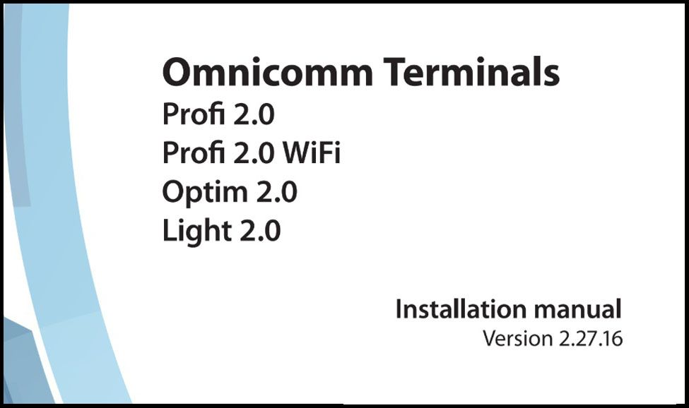 OMNICOMM Series 2 Terminals Installation Manual