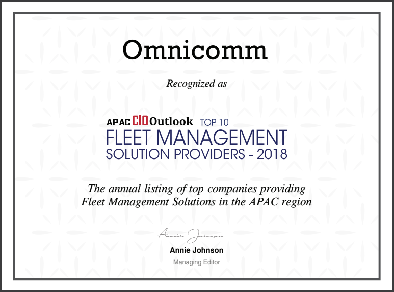 OMNICOMM RANKED IN TOP 10 FLEET MANAGEMENT SOLUTION PROVIDERS