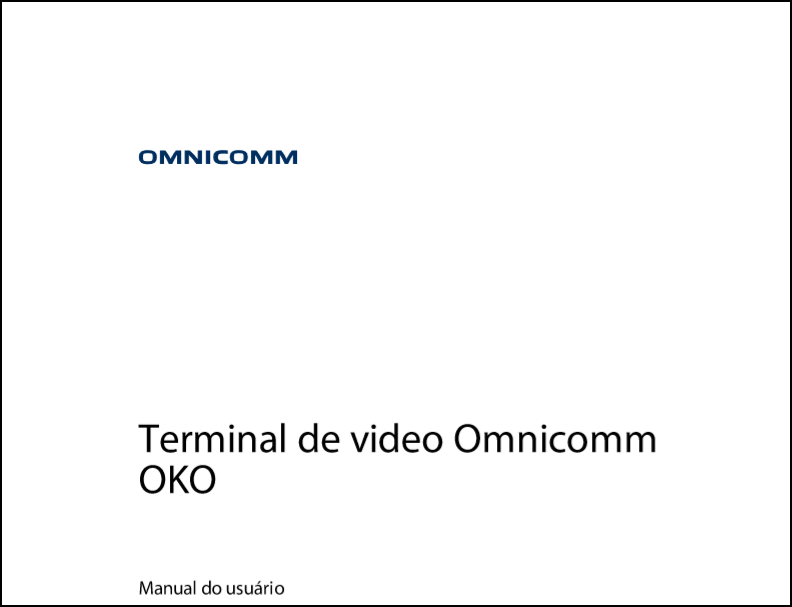 OMNICOMM OKO Terminal de video Manual do usuário