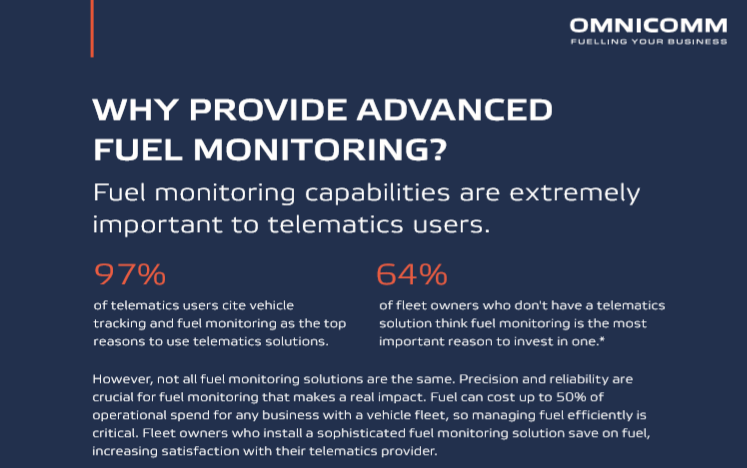 OMNICOMM Advanced Fuel Analytics for MyGeotab fleet management platform. To Partner