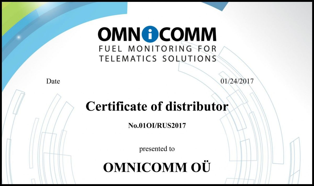 Certificate of Distributor