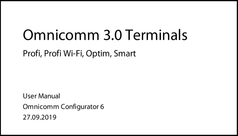 OMNICOMM  Series 3 Terminals User Manual