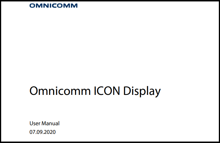 OMNICOMM ICON Display User Manual