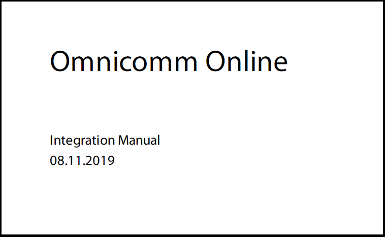 OMNICOMM  Online Integration Manual