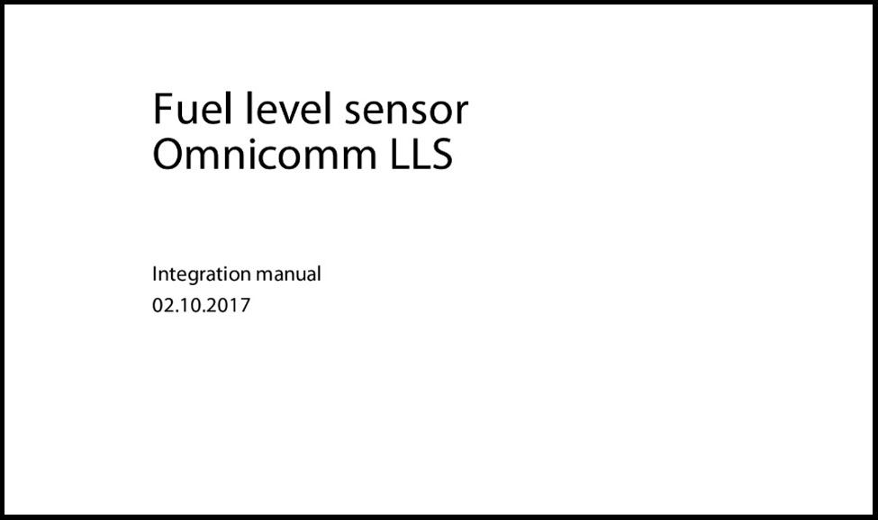 OMNICOMM LLS Fuel Level Sensor Integration Manual