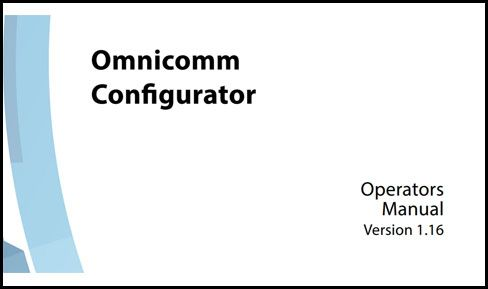 OMNICOMM Configurator Operators Manual