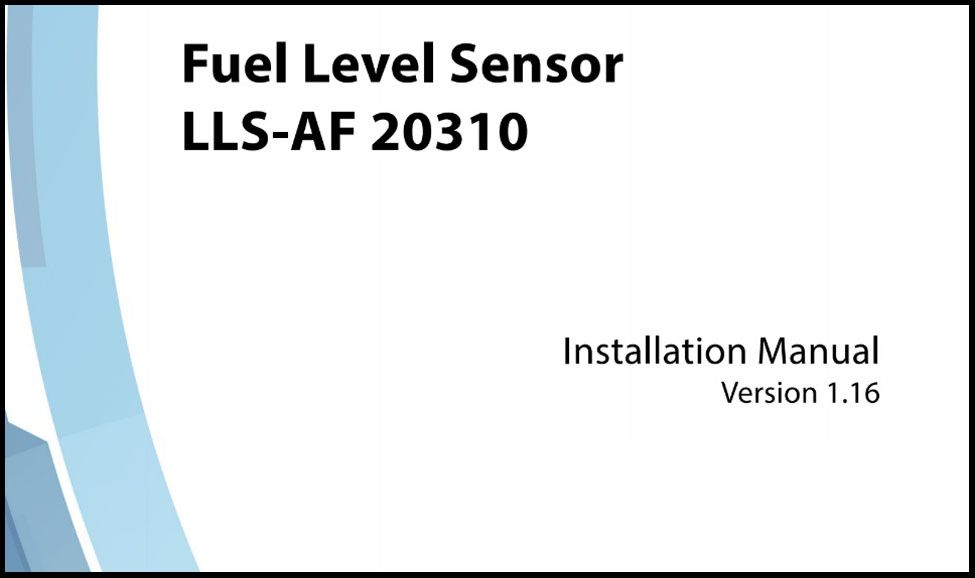 OMNICOMM Fuel-level Sensor LLS-AF 20310 Installation Manual