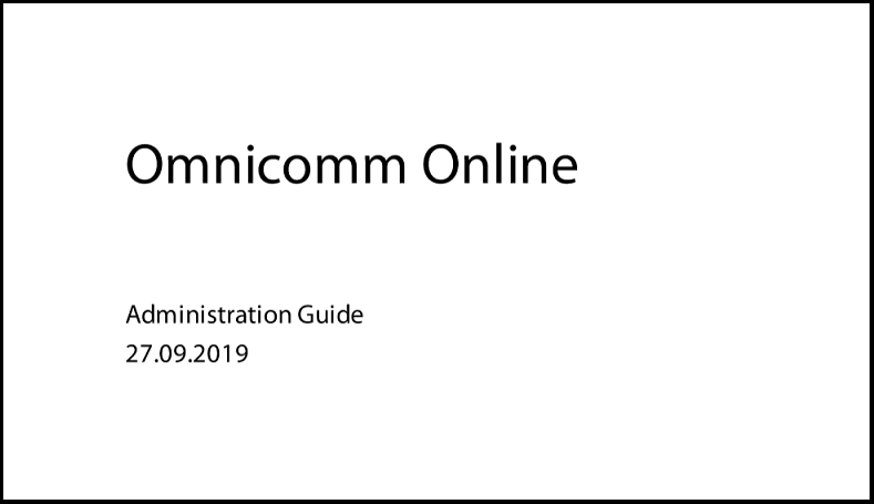 OMNICOMM Online Administration Guide